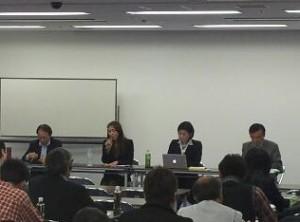 左から、富永先生、荒添先生、中尾先生、栗脇先生